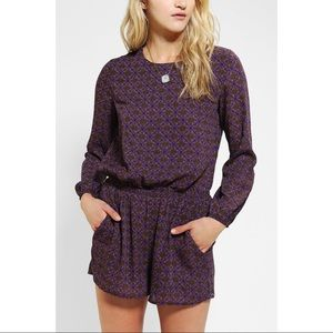 Lucca Couture Purple Patterned Romper